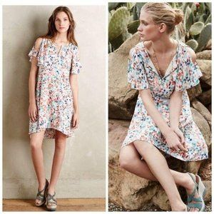 Maeve Watercolor Dots Dress Small Anthropologie